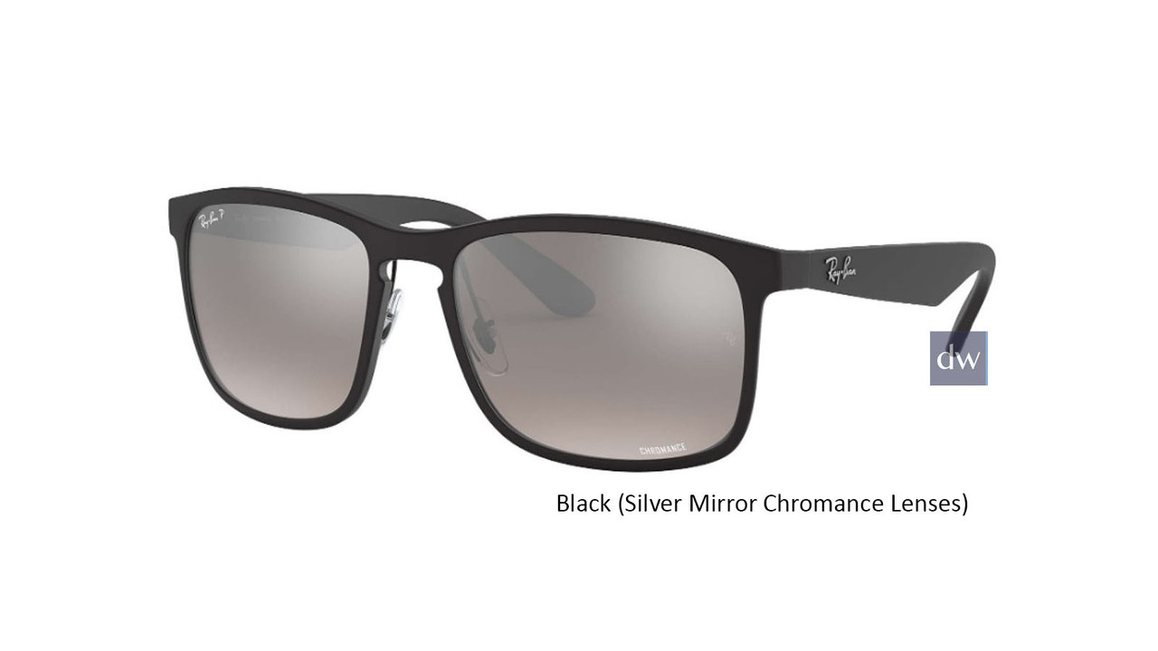 Black ( Silver Mirror Chromance Lenses ) Ray Ban RB4264 Chromance Sunglasses