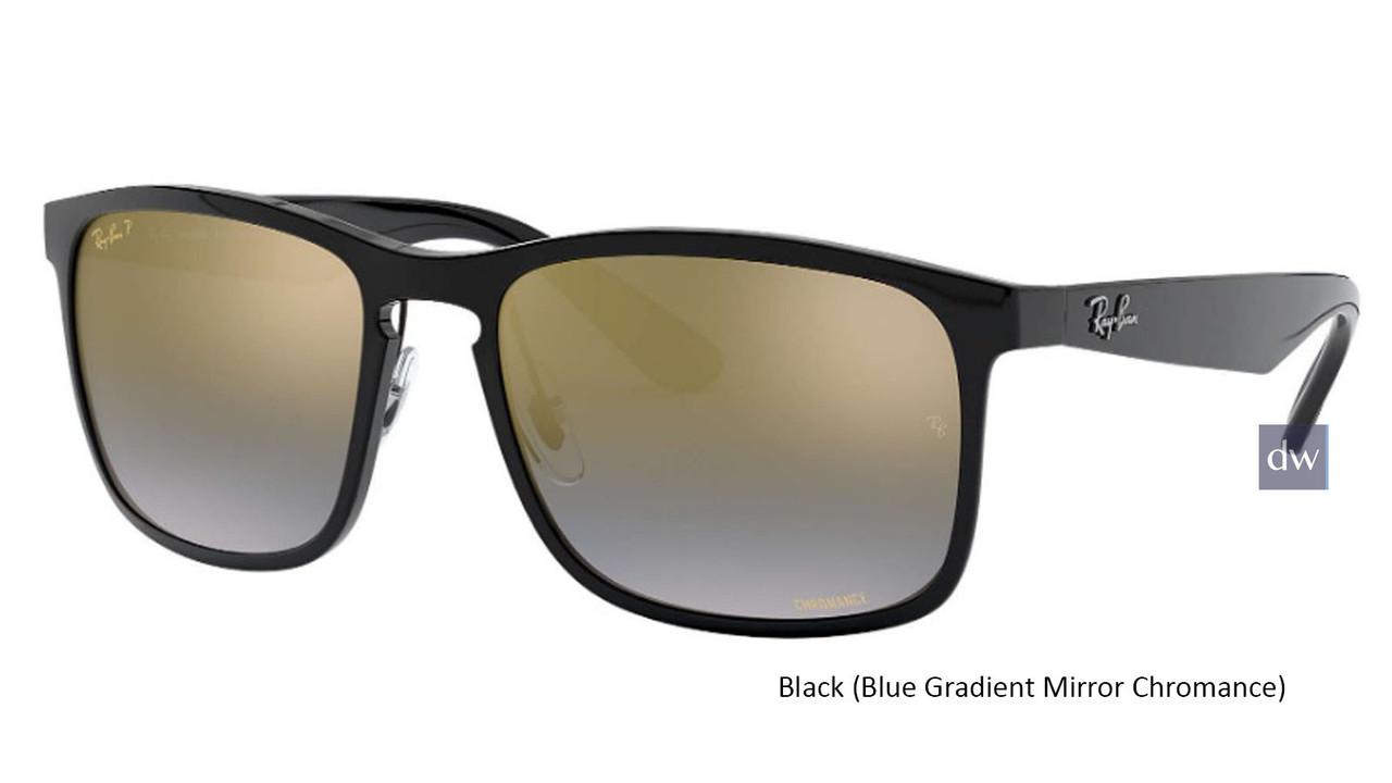 Black ( Blue Gradient Mirror Chromance Lenses ) Ray Ban RB4264 Chromance Sunglasses