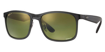 Grey ( Green Mirror Chromance Lenses ) Ray Ban RB4264 Chromance Sunglasses