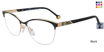 Black Carolina Herrera VHE123K Eyeglasses.