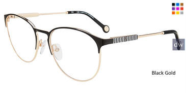 Black Gold Carolina Herrera VHE136K Eyeglasses.