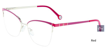 Red Carolina Herrera VHE155K Eyeglasses.