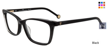 Black Carolina Herrera VHE805K Eyeglasses.