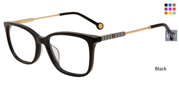 Black Carolina Herrera VHE816K Eyeglasses.