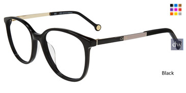 Black Carolina Herrera VHE819K Eyeglasses.