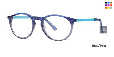 Blue/Turq Deja Vu 9028 Eyeglasses - Teenager