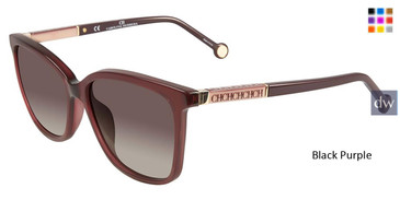 Black Purple Carolina Herrera SHE702 Sunglasses.