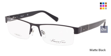 Matte Black Kenneth Cole New York KC0217 Eyeglasses.