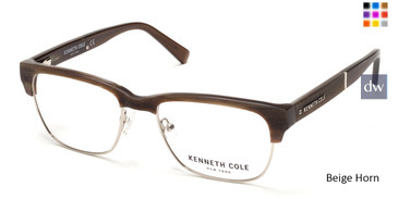 Beige Horn Kenneth Cole New York KC0284 Eyeglasses.