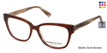 Matte Dark Brown Kenneth Cole New York KC0296 Eyeglasses.