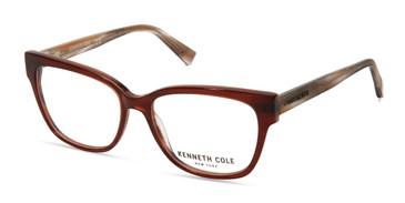 Matte Dark Brown Kenneth Cole New York KC0296 Eyeglasses.