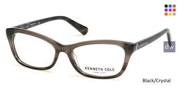 Black/Crystal Kenneth Cole New York KC0302 Eyeglasses.