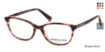 Brown Horn Kenneth Cole New York KC0308 Eyeglasses.