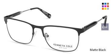Matte Black Kenneth Cole New York KC0312 Eyeglasses.
