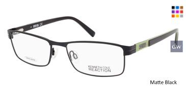 Matte Black Kenneth Cole Reaction KC0752 Eyeglasses.