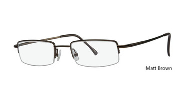Matt Brown Vivid Eyeglasses Eurosteel 100.