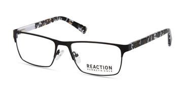 Matte Black Kenneth Cole Reaction KC0808 Eyeglasses.