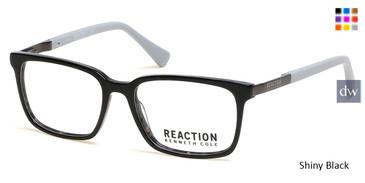 Shiny Black Kenneth Cole Reaction KC0825 Eyeglasses.
