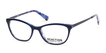 Matte Blue Kenneth Cole Reaction KC0826 Eyeglasses.