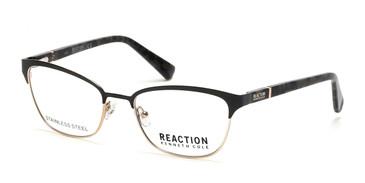 Matte Black Kenneth Cole Reaction KC0850 Eyeglasses.