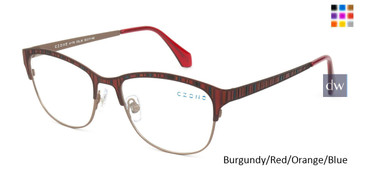 Burgundy/Red/Orange/Blue C-Zone A1178 Eyeglasses