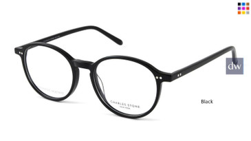Black William Morris Charles Stone NY 30054 Eyeglasses