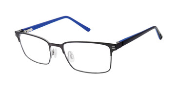Dark Gunmetal Geoffrey Beene Boys G908 Eyeglasses - Teenager.
