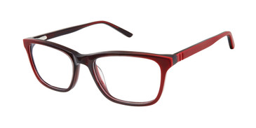Burgundy Geoffrey Beene G909 Eyeglasses - Teenager.