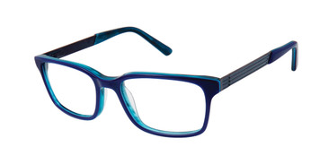 Navy Geoffrey Beene Boys G910 Eyeglasses - Teenager.