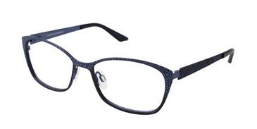 Navy Brendel 902176 Eyeglasses.