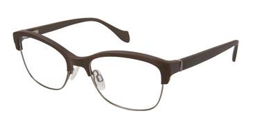 Brown/Gunmetal Brendel 902210 Eyeglasses.