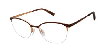 Brown/Gold Brendel 902279 Eyeglasses.