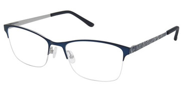 Blue Silver Super Flex Titan SF-1120T Eyeglasses.