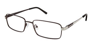 Charcoal Gun Super Flex Titan SF-1113T Eyeglasses.