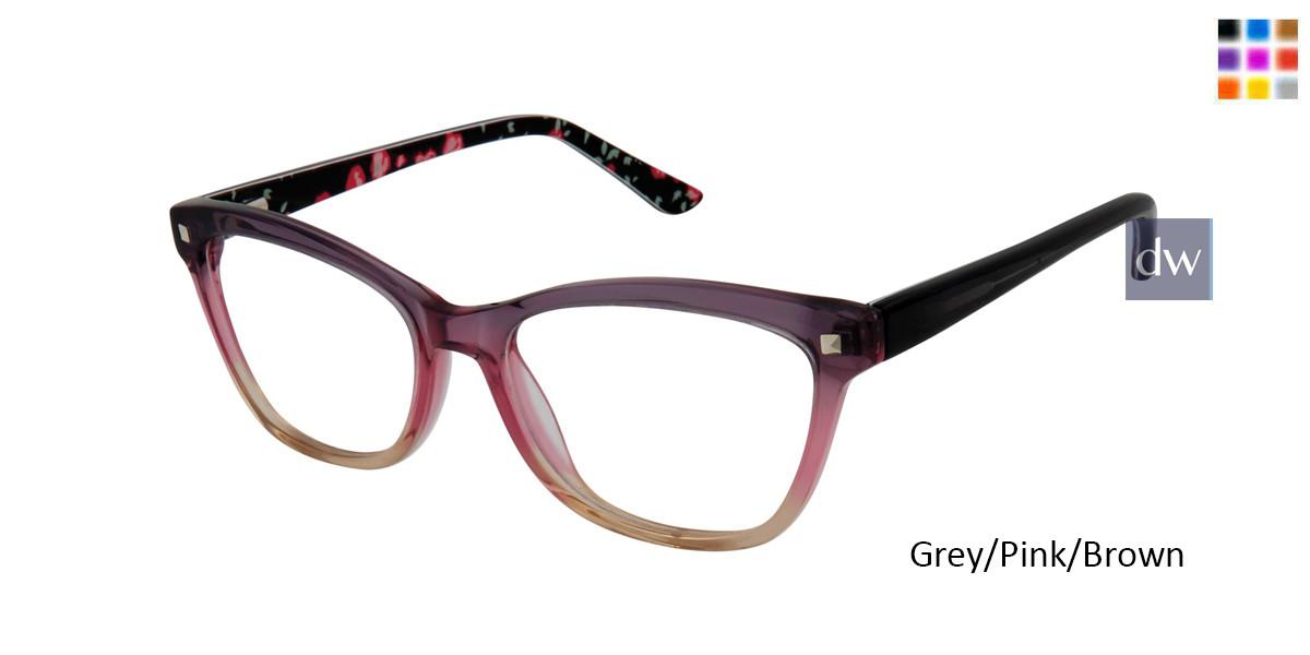 Grey/Pink/Brown Gx By Gwen Stefani Gx816 Juniors Eyeglasses - Teenager.