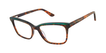 Brown Horn/Green Gx By Gwen Stefani Gx052 Eyeglasses.