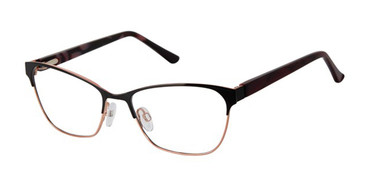 Black/Rose Gold Gx By Gwen Stefani Gx058 Eyeglasses.