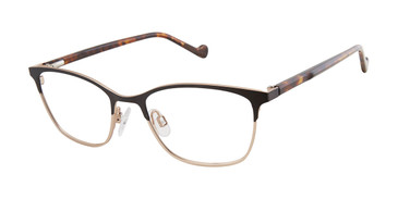 Black/Gold Mini 761003 Eyeglasses - Teenager