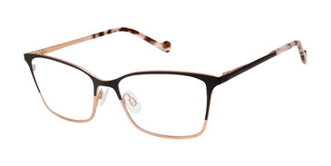 Black/Rose Gold Mini 761002 Eyeglasses.