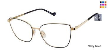 Navy Gold  Mini 742012 Eyeglasses.