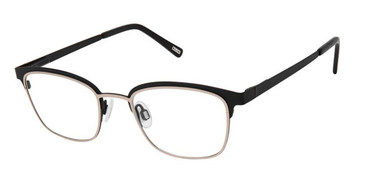 Black Rose Gold Kliik Denmark 673 Eyeglasses.