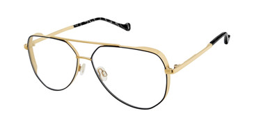 Black/Gold Mini 742008 Eyeglasses.