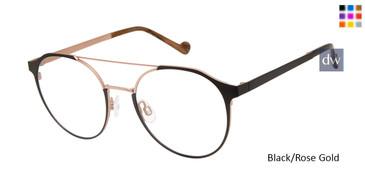 Black/Rose Gold Mini 742006 Eyeglasses.