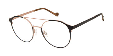 Black/Rose Gold Mini 742006 Eyeglasses.