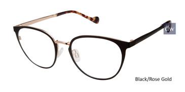 Black/Gold Rose Mini 742005 Eyeglasses.