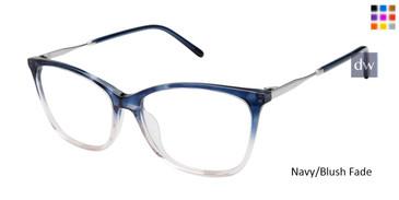 Navy/Blush Fade Mini 741009H Eyeglasses.