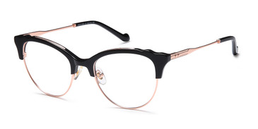 Gold/Black Capri AGO 1026 Eyeglasses.