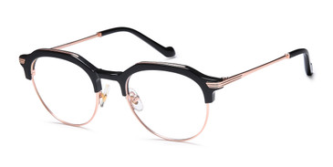 Gold/Black Capri AGO 1025 Eyeglasses - Teenager.