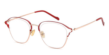 Red/Gold Capri AGO 1023 Eyeglasses - Teenager