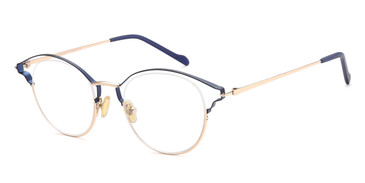 Navy/Gold Capri AGO 1022 Eyeglasses